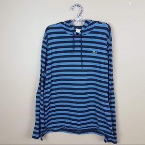 Lacoste blue striped lightweight pullover size XL